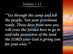 joshua 1 11 the lord your god is giving powerpoint church sermon Slide03 http://www.slideteam.net/