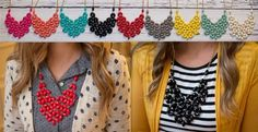 They're Back! Honeycomb Statement Necklaces - 5 Colors! | Jane
