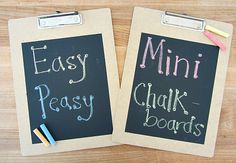 Dollar Store clipboards turned into chalkboards - great for kids learning to write !