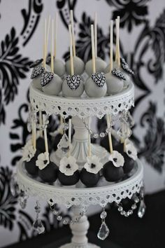 Serve glamourous cake pops instead of cupcakes or a more traditional multi-tiered wedding cake.