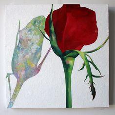 Marjut Siro, Vesivahinko 2015, akryyli kankaalle 60 cm x 60 cm Rose Buds, Moose Art, Paintings, Animals, Animales, Paint, Animaux, Painting Art, Animal Memes