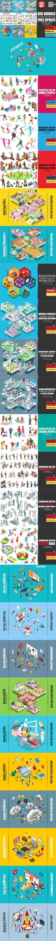 69% OFF Isometric Mega Bundle. Graphic Design Infographics. $48.00