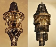 Connect chandeliers from recycled bicycle parts by Carolina Fontoura Alzaga. I want it!