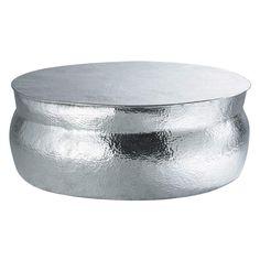 Table basse ronde en aluminium D 91 cm