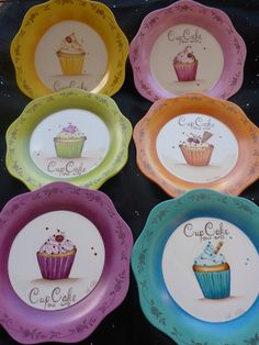 P1070520 Painted Mugs, Painted Plates, Ceramic Plates, Decorative Plates, Pottery Painting, Ceramic Painting, Ceramic Art, Pebeo Porcelaine, Pebeo Paint