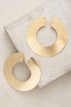 Lila Rice Mondo Hoop Earrings