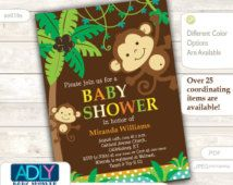 27 Best Monkey Baby Shower Invitations Images On Pinterest Baby