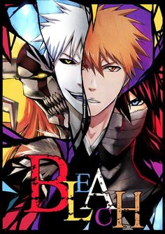 Bleach. Ichigo, Ichigo's inner hollow, his hollow form and final getsuga form!