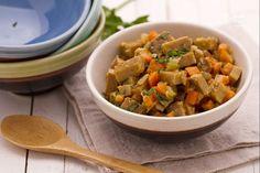 Spezzatino di seitan con verdure stufate