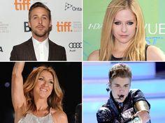 Justin Bieber, Avril Lavigne, Ryan Gosling y Celine Dion Ryan Gosling, Celine Dion, Avril Lavigne, Justin Bieber, Presidente Obama, Quebec, Presidents, Truths, Confused