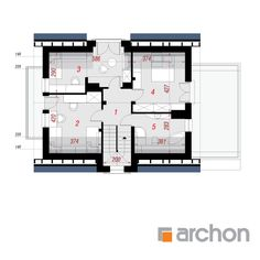 Dom w amarylisach (P) Floor Plans, Floor Plan Drawing