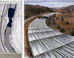 "Christo and Jeanne-Claude, ""Over the River""; proposed for sometime in 2014, over the Arkansas River in Colorado. I'm fairly certain I will need to see this in person."