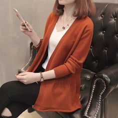 Buy Autunno Plain Open Front Cardigan at YesStyle.com! Quality products at remarkable prices. FREE Worldwide Shipping available!