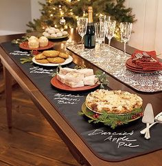 Love this idea for a buffet table!