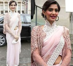 50 Latest Saree Blouse Designs For 2019 That Will Amaze You Sonam Kapoor Hairstyles, Saree Hairstyles, Latest Saree Blouse, Saree Blouse Designs, Sari Blouse, Long Blouse, Dress Designs, Saree Draping Styles, Saree Styles