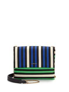 Lanvin | Blue Sugar Mini Striped Nylon Crossbody Bag | Lyst: