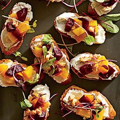 Scare Up a Crowd This Halloween! | Beet-and-Goat Cheese Crostini | CoastalLiving.com