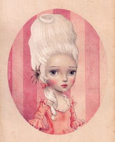 Lady in Pink Watercolours and graphite on paper. 2014. Not available. By Raul Guerra