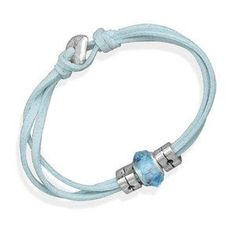 Light Blue Suede Three Strand Fashion Bracelet Glass Bead Toggle Clasp Women Teens Wildfire Fashion. Save 33 Off!. $10.00. Toggle type clasp. Three strands. Glass wheel bead charm. Other colors available. Light blue suede
