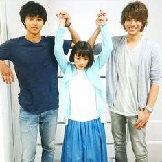"""Kento Yamazaki x Sakurako Ohara x Shohei Miura, J drama """"Sukina hito ga iru koto (A girl & 3 sweethearts)"""", Aug/06/2016"""