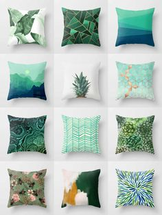 Society6 Green Throw Pillows - Society6 is home to hundreds of thousands of artists from around the globe, uploading and selling their original works as 30+ premium consumer goods from Art Prints to Throw Blankets. They create, we produce and fulfill, and every purchase pays an artist.