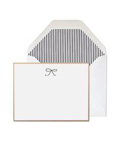 Bow notecards with striped envelopes :)