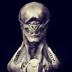 Mindless One #sculpt for a #painting I did a while back. #alien #zbrush #zbrushsculpt #scifi #creature #creaturedesign #scary #creepy #monster #creaturedesigner #halloween #sciencefiction by jsmarantz