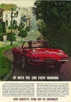 1963 Chevrolet Corvette Stingray ad.