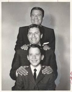 Jerry Lewis, his father and hi son, Gary