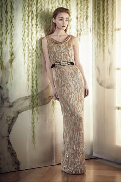 Draped sparkle, shimmering details - see the @jennypackham pre-autumn/winter 2015 collection: http://vogue.uk/pJyv1A