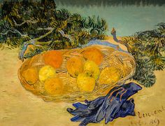 Vincent van Gogh - Still Life of Oranges and Lemons with Blue Gloves, 1889 at National Gallery of Art Washington DC