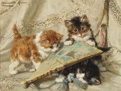 Innocence Henriette Ronner-Knip Oil on Panel Private Collection