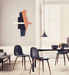 GUBI // Semi Pendant, Y! Table and Gubi Chair