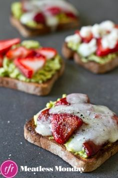 Sautéed Strawberry Avocado & Goat Cheese Sandwich