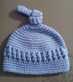 Newborn baby boy beanie. Adapted from a pattern on Repeat Crafter Me   Crochet Newborn 3a52e61176c