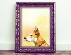 Dog Printable Wall Art, Geometric Art, Watercolor Dog, Pet Decor, Nursery Decor, Animal Lover Art, Must Love Dogs, Gifts for Dog Lovers by HoneyBeePrintsShop on Etsy