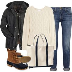 Heading out to Jersey soon to get our tree. Wearing this...winter sweater, LL Bean mid-boots and parka