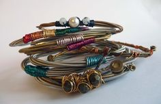 Cool!  Bracelets made from used guitar strings