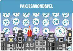 Vier Sinterklaas met een spel: het pakjesavondspel! Op deze manier verleg je de focus van cadeautjes uitpakken naar een gezellig avondje samen spelletjes doen waarbij je ook nog cadeautjes uitpakt! Leuk voor jong en oud. Advent Calendar, Holiday Decor, Blog, Seeds, Advent Calenders, Blogging