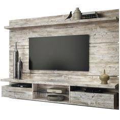 25 Coolest DIY Wood Pallet TV Console Ideas for Your Project A TV console is such a must-have furniture that every living room should have. It provides the better spot to put your flat TV and other living room stuff. Tv Pallet, Wood Pallets, Tv Furniture, Pallet Furniture, Online Furniture, Muebles Rack Tv, Palette Tv, Modern Tv Wall Units, Tv Wall Decor