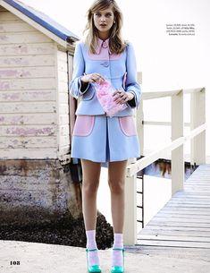 boardwalk empire: rosie tupper in Miu Miu by zachary handley for elle australia may 2014 Foto Fashion, High Fashion, Fashion Show, Womens Fashion, Fashion Design, Fashion Trends, Lover Fashion, Style Fashion, Rosie Tupper