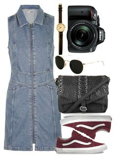 """Untitled #5335"" by rachellouisewilliamson ❤ liked on Polyvore featuring Vans, Topshop, Ray-Ban and Nikon"