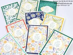 """Label Me Pretty, Pretty Label & 1-3/8"""" Circle punches, Delightful Daisy DSP, Whisper White Note Cards & Envelopes (portrait view)"""