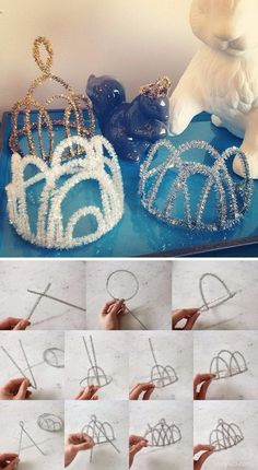 """37 DIY Disney Frozen Inspired Crafts 2017 - - If you have kids of a certain age, they're probably obsessed with the Disney Movie """"Frozen"""". Today we are sharing some great ideas to help you make everything about this theme! There are wand…. Frozen Themed Birthday Party, Disney Frozen Birthday, Diy Birthday, Frozen Tea Party, Frozen Party Games, Frozen Party Decorations, Disney Frozen Crafts, Diy Disney, Disney Diy Crafts"""