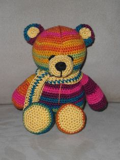 #Crochet #amigurumi #teddy bear with silk effect