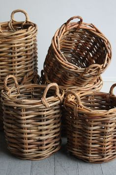 Wicker Baskets, Howe. love for my yarn stash