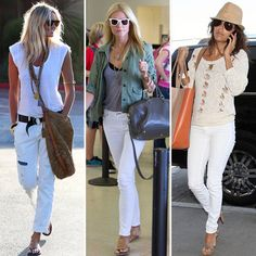 What To Wear With White Jeans For Women Wearing denim white jeans