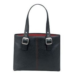 SOLO Classic Collection Ladies Laptop Tote, Padded Compartment Holds Notebook Computer up to 16 Inches - Black with Red Lining (K709-4/17),$26.65