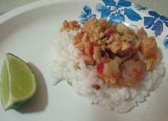 Coconut Sticky Rice with Chicken