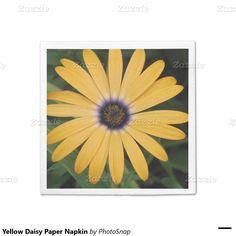 Yellow Daisy Paper Napkin